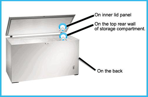 freezer model number locator