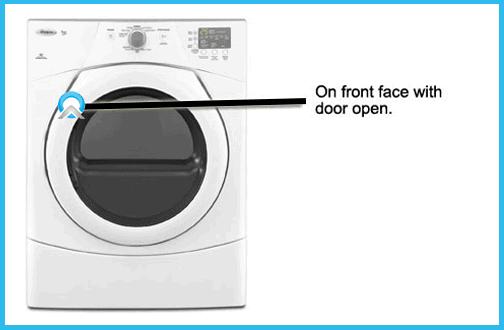 dryer model number locator
