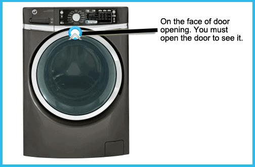 front load washer model number locator