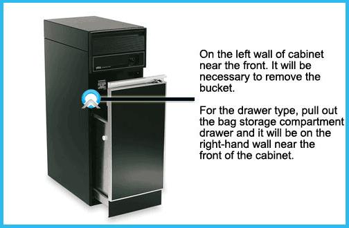 trash compactor model number locator