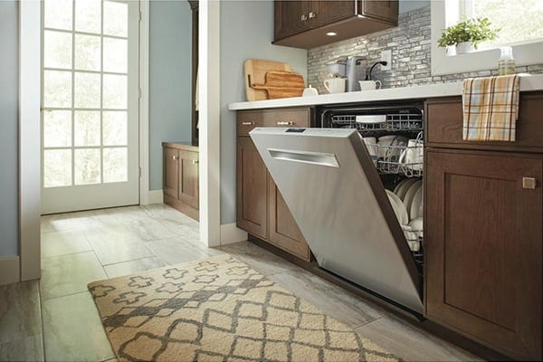 bosch dishwasher smells like mildew