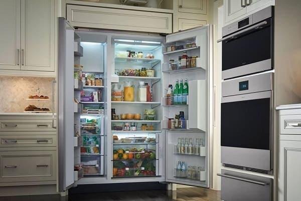sub zero refrigerator odor