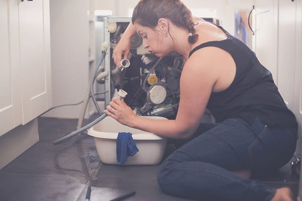 thermador dishwasher won't drain